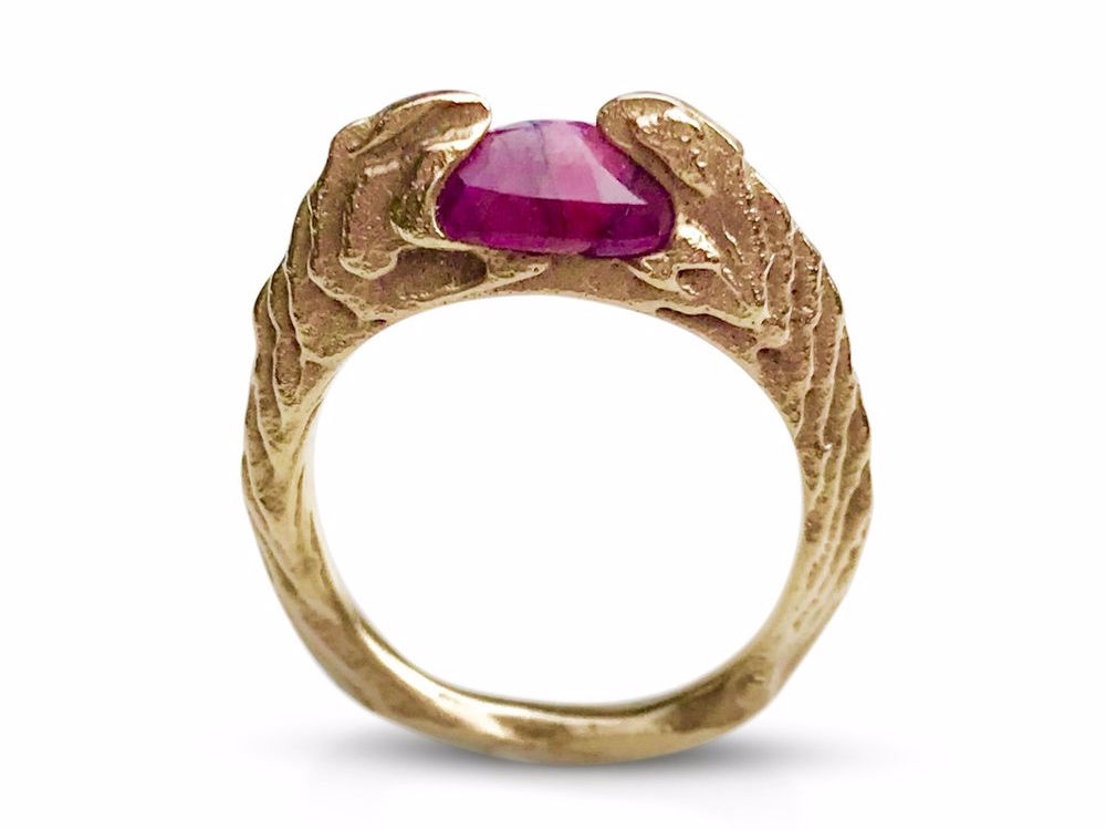 AFRICAN RUBY RING BY I SPY ARTISAN JEWELRY