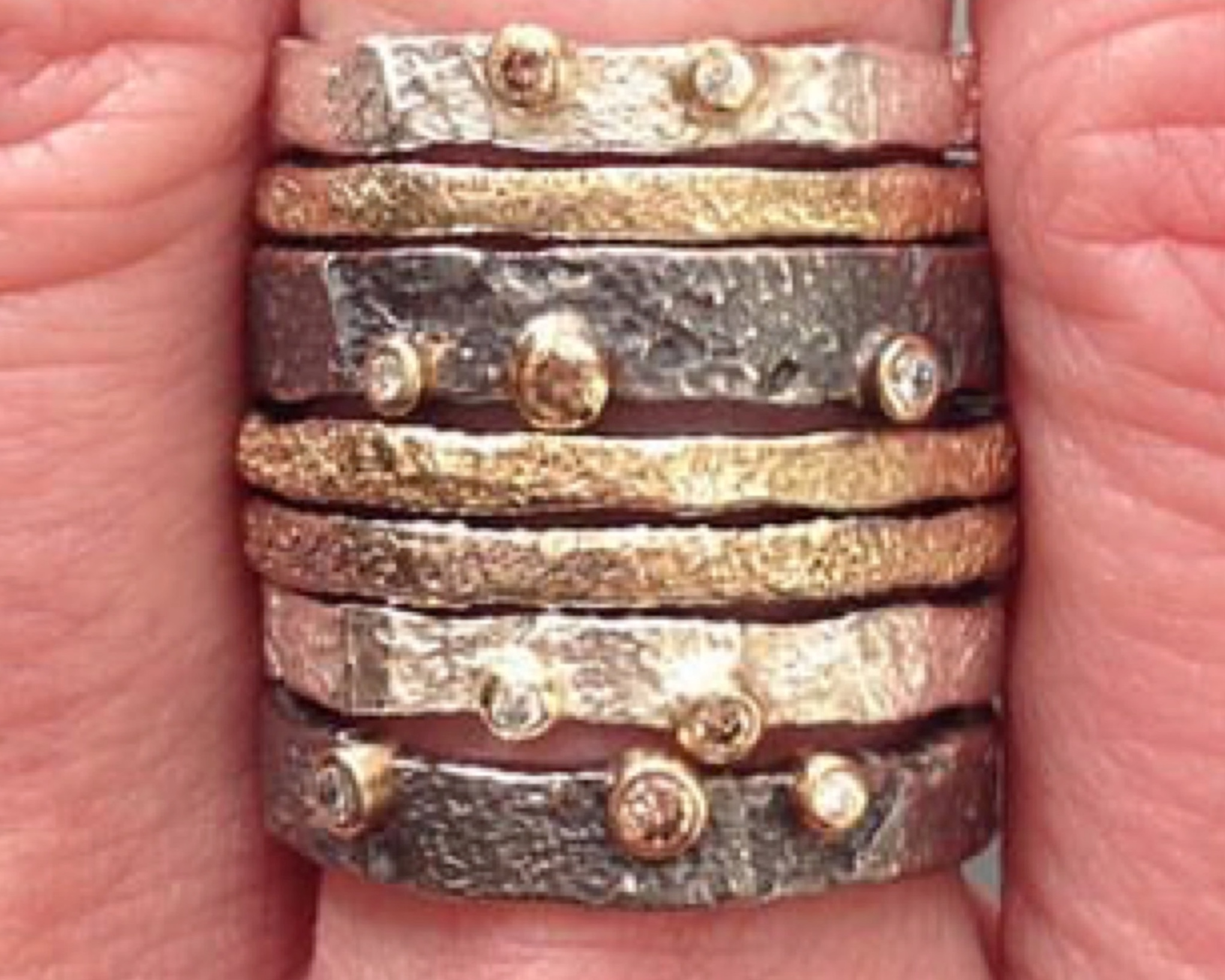 BEDROCK STACKING RINGS BY JENNY REEVES