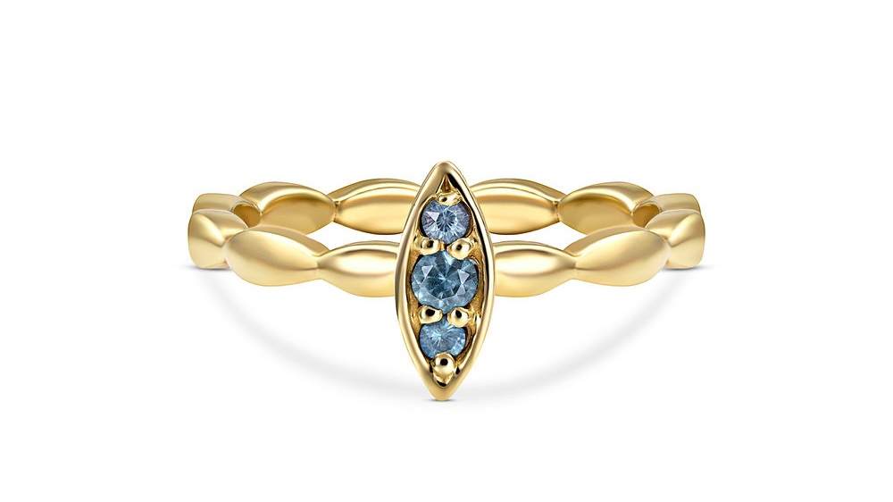 PETAL RING WITH MONTANA BLUE SAPPHIRES BY JENNIFER DEMORO