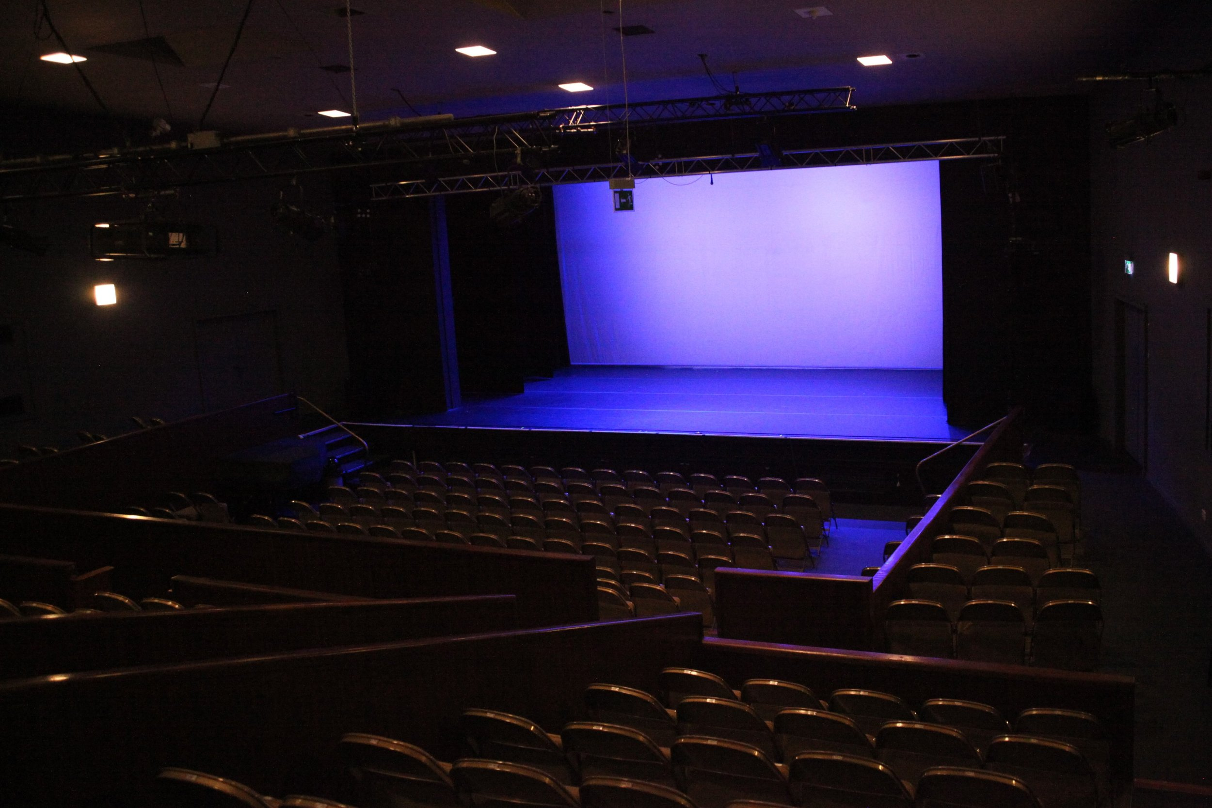 Theatre - We have a 350 capacity studio style theatre - if you require to upscale and need a larger space for an event or performance then the theatre may be available to hire.If you are interested in hiring this space, please contact House Manager Stephanie Walls on stephanie.walls@act-aberdeen.org.uk.To view more photographs of our theatre, CLICK HERE.To view our theatre's Technical Specifications, CLICK HERE.