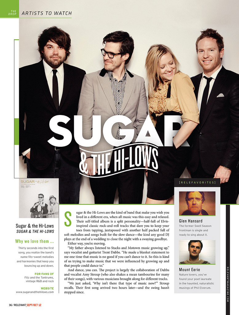 Sugar & The Hi-Lows for Relevant Magazine