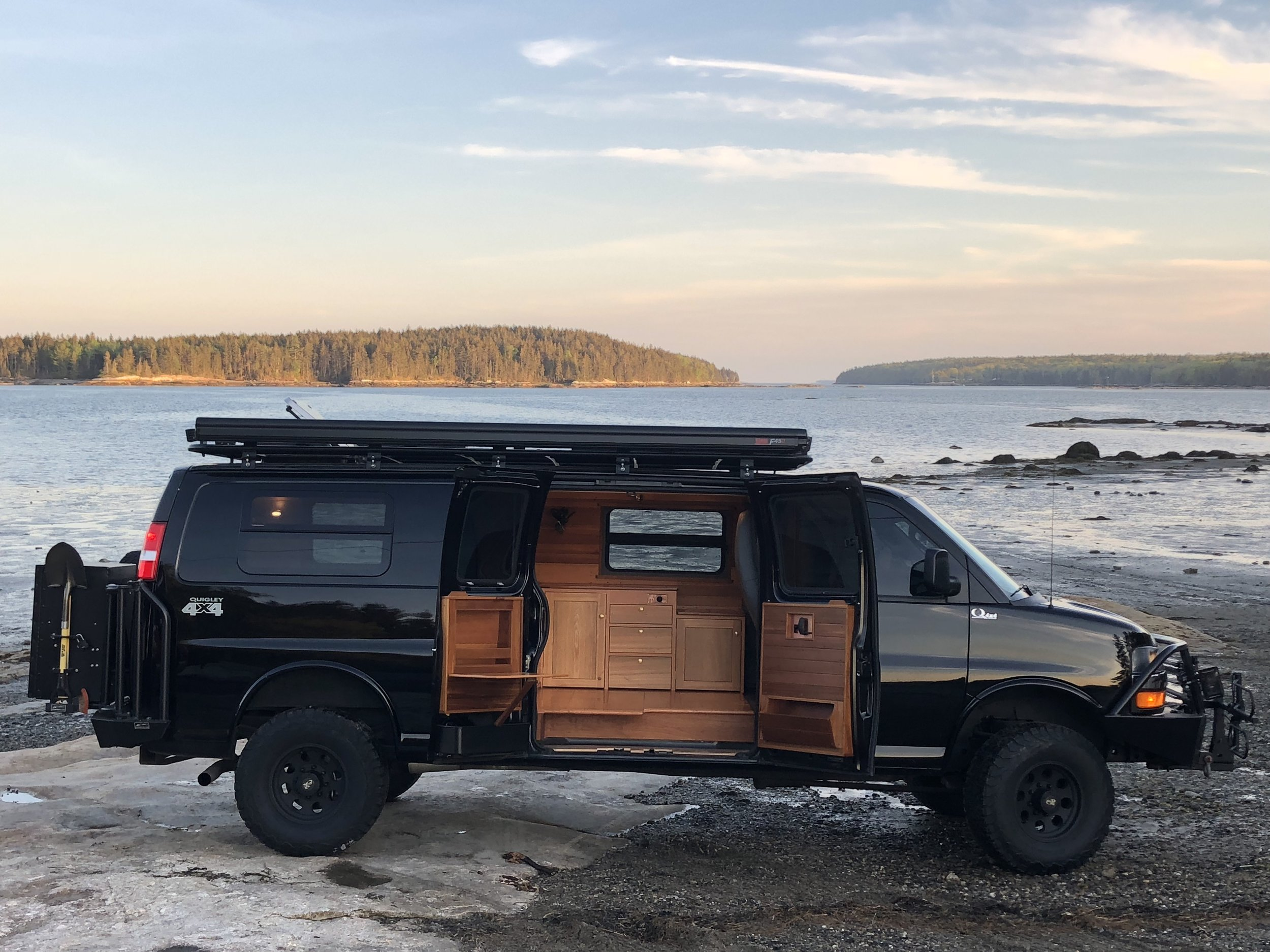 GMC cargo van, Jinx. (Photo courtesy of Eli Ellis/ AWOL Adventure Rigs)