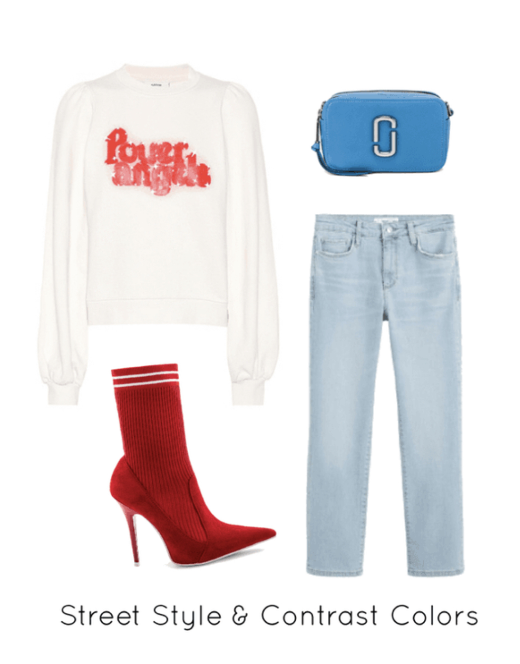 Red Sock Boots and Blue Jeans Outfit.