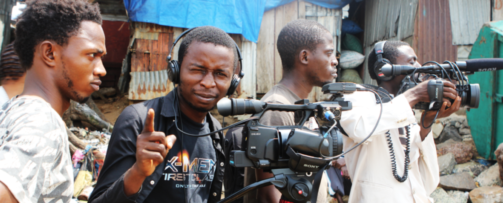 """""""When we deliver the message people definitely BELIEVE because it is not coming from a big politician, or a foreigner. It's coming from their FRIEND, their FAMILY, their next door NEIGHBOR."""" - LANSANA MANSARAY (a.k.a. Barmmy Boy) WeOwnTV Production Manager"""