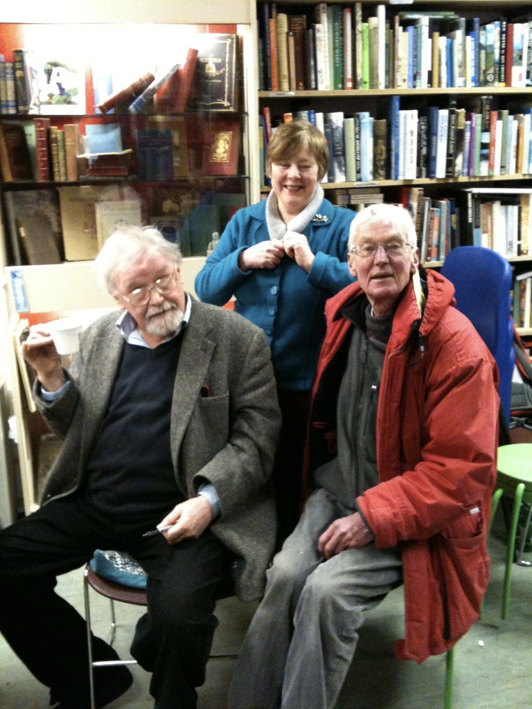 Alasdair Gray instore with Rich and Jennie