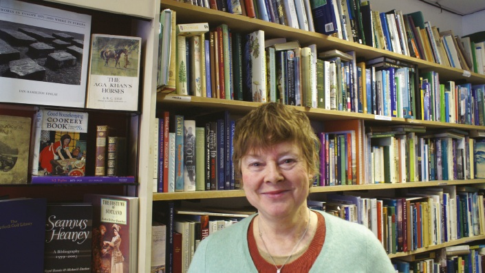 Jennie Renton, proprietor of Main Point Books
