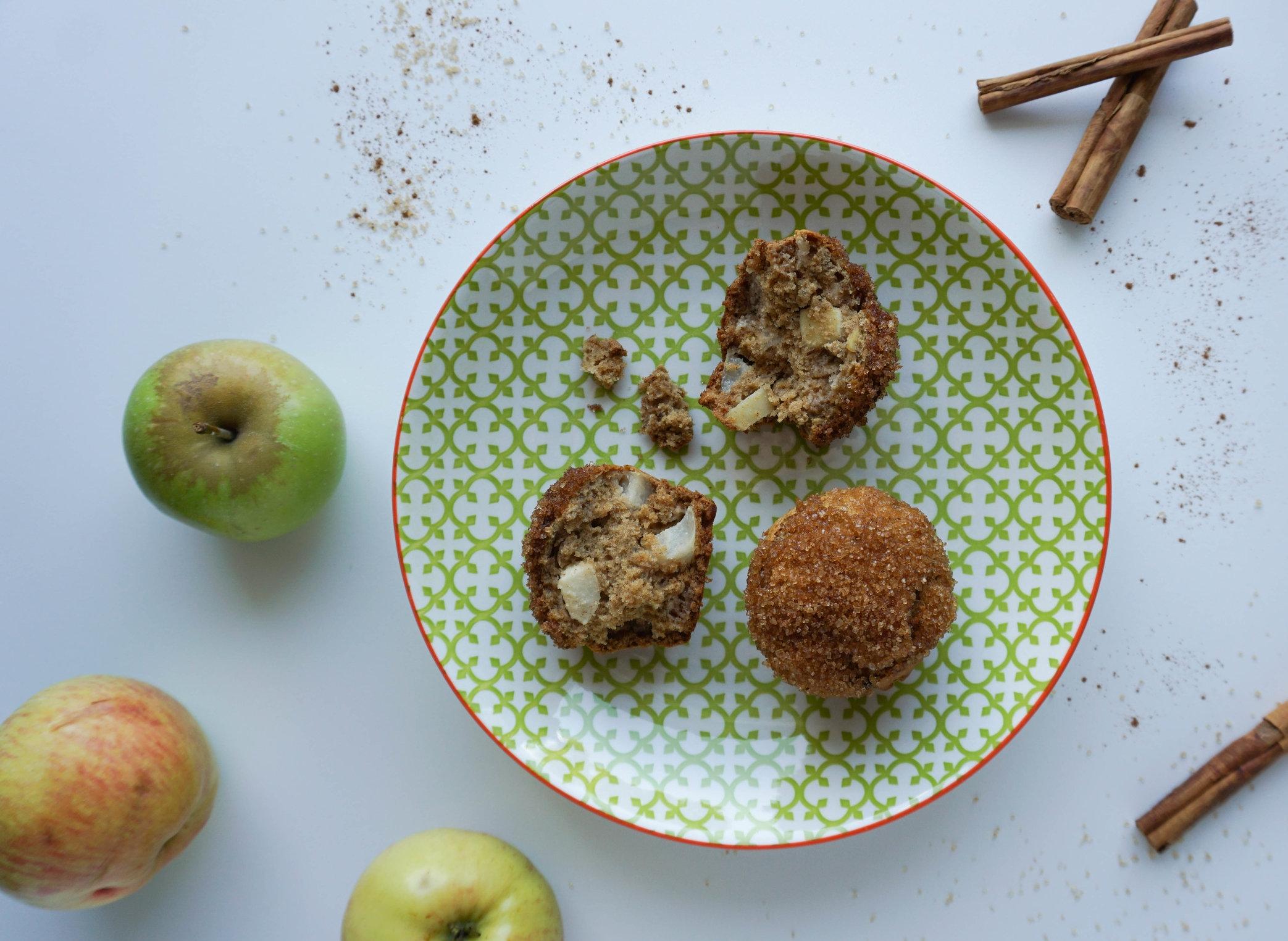 """Apfel Zimt Hafermuffins aus """"Plastikfrei Backen Ohne Unverpackt Laden"""" Vegan Glutenfrei.jpg"""