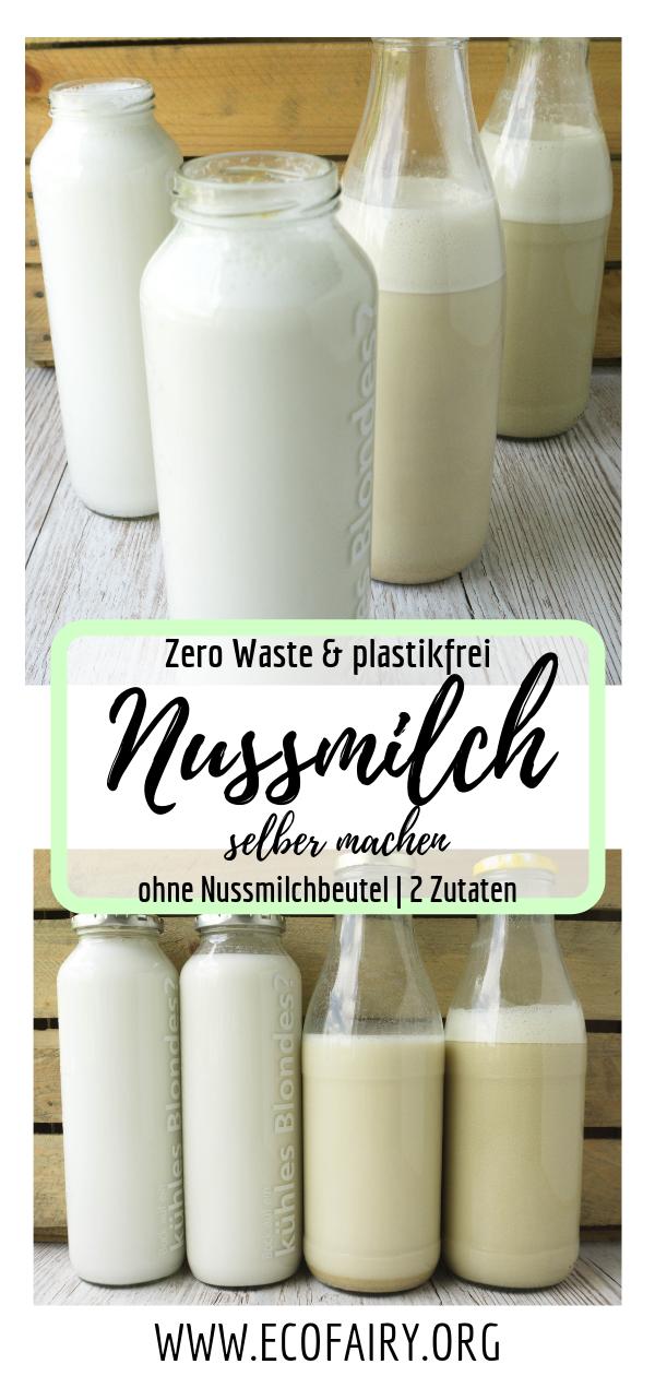 Die einfachste & schnellste Nussmilch der Welt - vegan, plastikfrei_Zero Waste, ohne Nussmilchbeutel und in unter 2 Minuten selbst gemacht! Pin.png