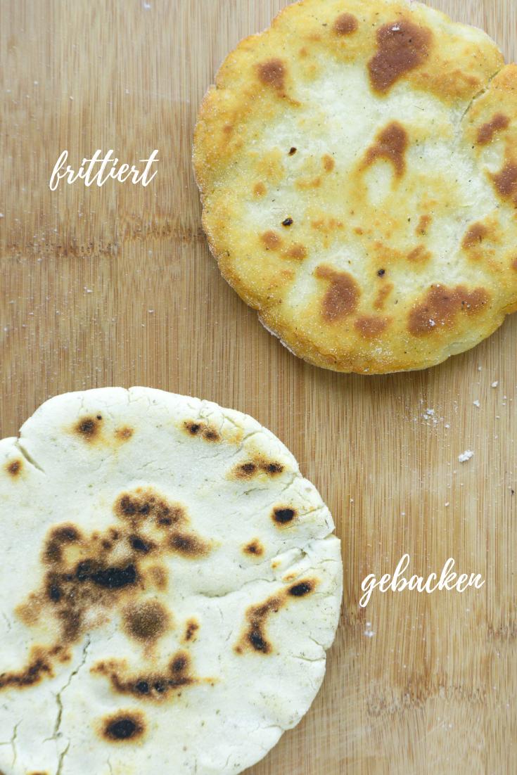 knuspriges Pitabrot (Vegan, Glutenfrei) gebacken oder frittiert.png