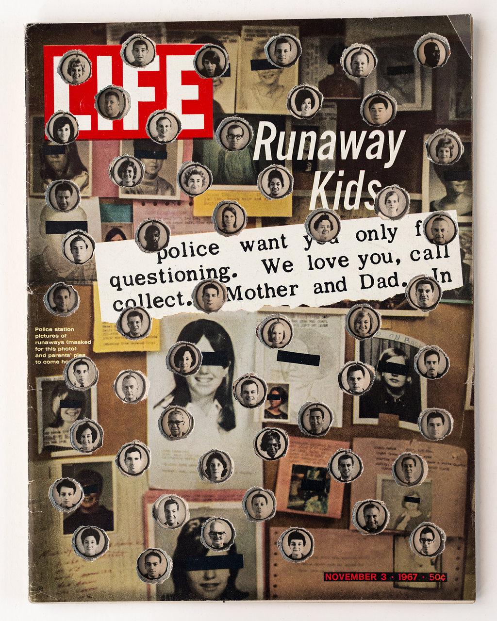 LIFE Cutout  series  Hand-cut magazine  13.75 x 10.5 in.