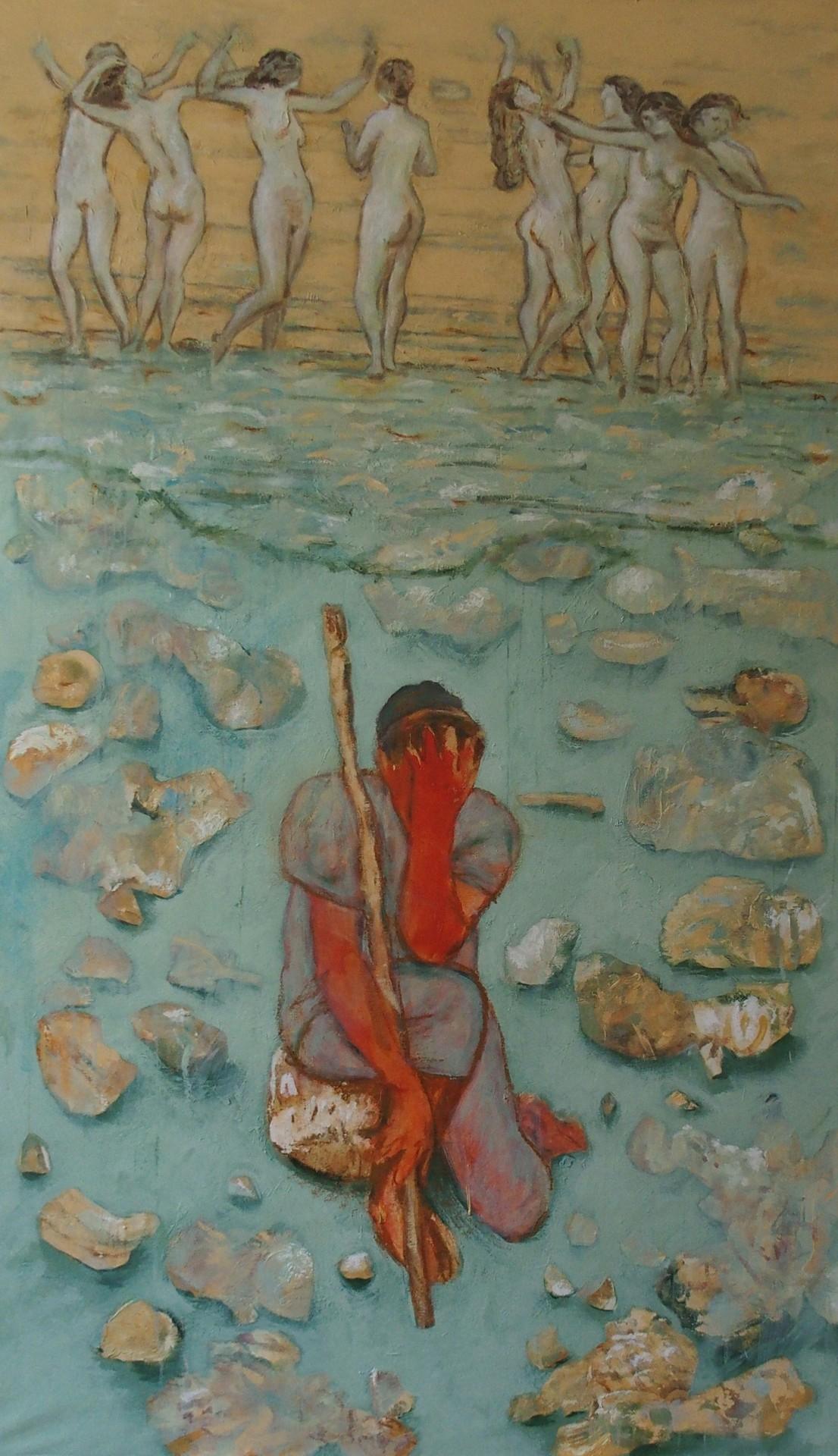 D'après Hodler   2018, Acrylic on canvas, cm.240x150