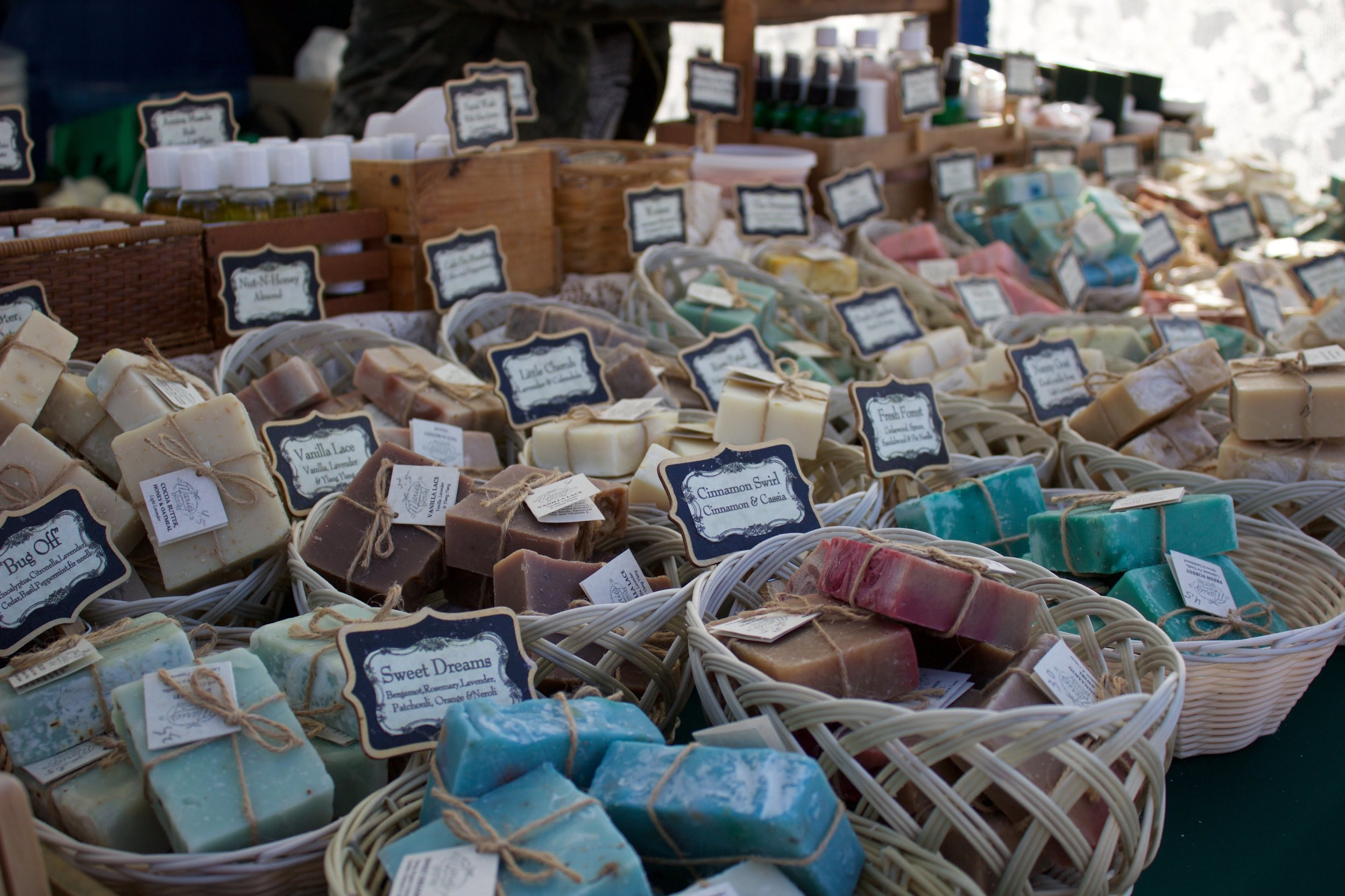 Enjoy Marie's Soap Company small batch, all-natural, hand-crafted soaps and personal care products. They reflect our commitment to create a healthy alternative to body care. They use the finest oil blends and dried herbs to give each batch its own originality.