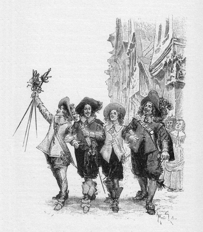 The Four Musketeers, image courtesy of  Wikimedia Commons