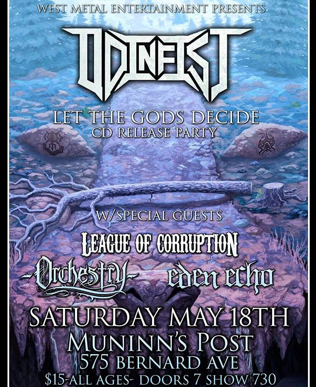 Tonight's the night. Odinfist CD release party is here! Dont forget to give 'Let the Gods Decide' a listen on any digital platform! Doors at 7 and we're on at 7:30 . . . #edenecho #edenechoband #metal #heavymetal #progmetal #kelownametal #canadianmetal #kingdomintheshadow #Odinfist