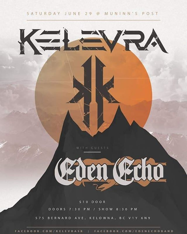 Who's ready to throw down? . . . #edenecho #edenechoband #metal #heavymetal #progmetal #kelownametal #canadianmetal #kingdomintheshadow #kelevra #pharm