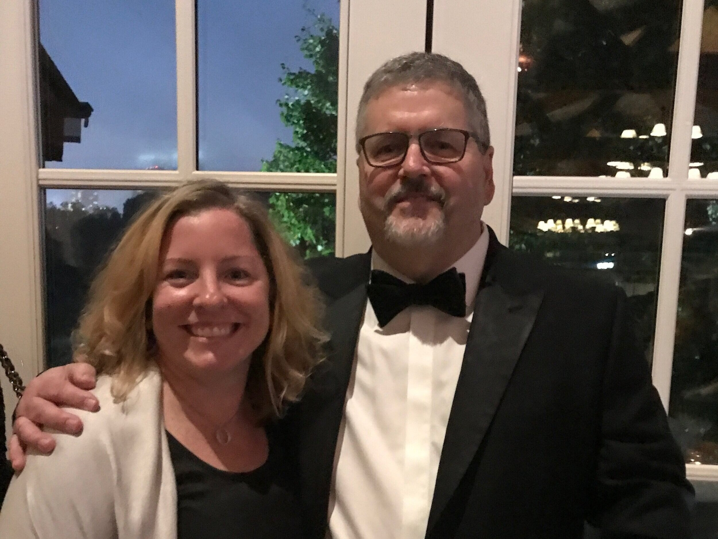 Executive Director Lisa Volle with Dave Machado at the Arts + Business Awards Gala last night in NYC.