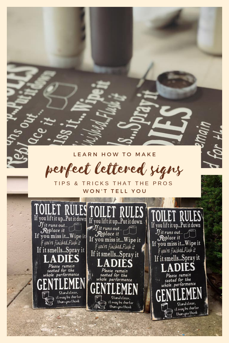 How to make perfect lettered signs, tips and tricks that the pros won't tell you