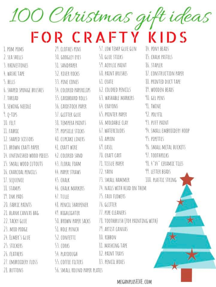Christmas Wish List 100 Gift Ideas To Get The Craft Obsessed Kid In Your Life Megan Plus Five