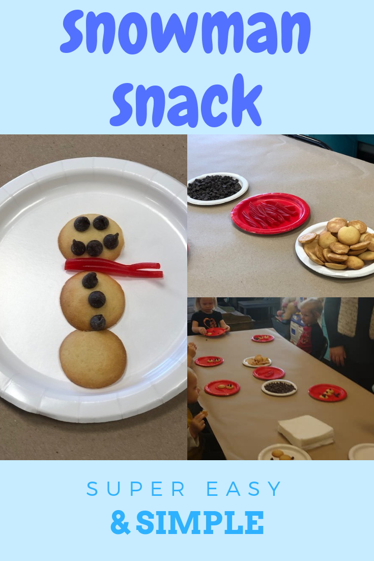 Snowman snack, easy, simple and mess free