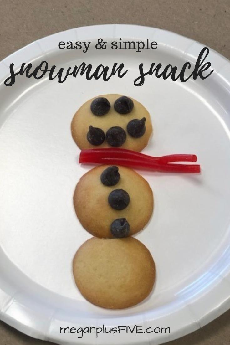 easy & simple snowman snack