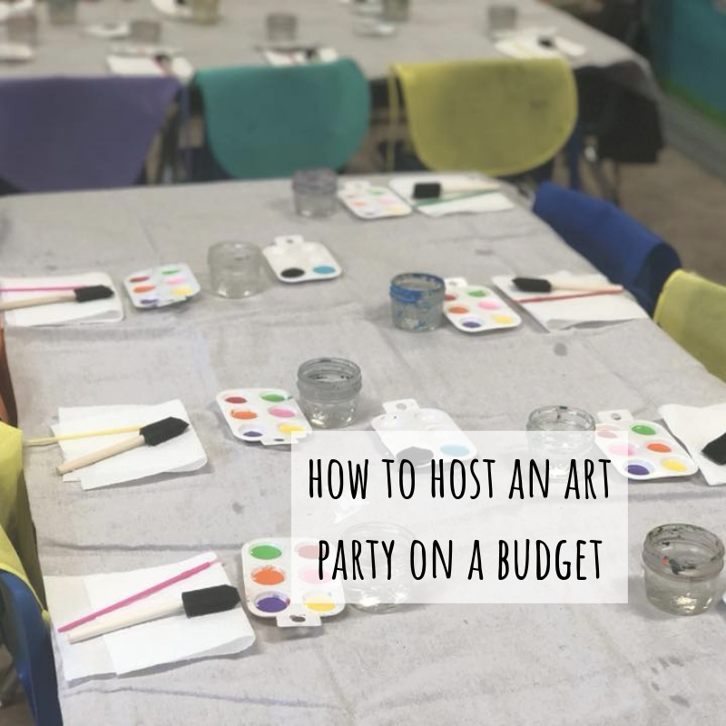How to plan the PERFECT no stress art party for your crafty kiddo for less than $40