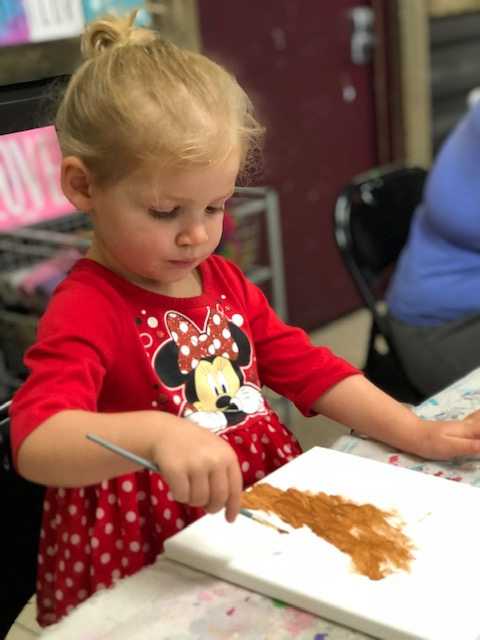 Apple Stamping, how to make a precious Autumn keepsake art project with your toddler