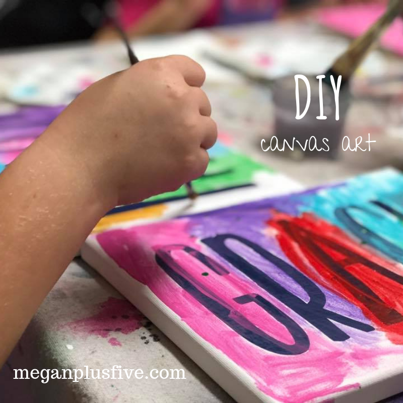 How to make your own CUSTOM canvas name art at home