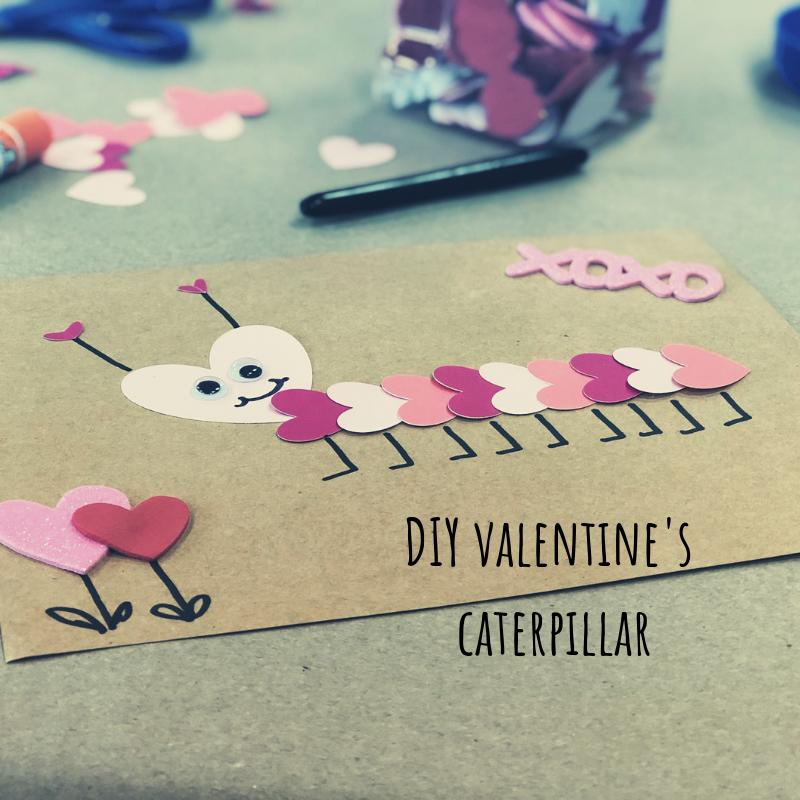 DIY Valentine's Caterpillar, easy simple step by step tutorial