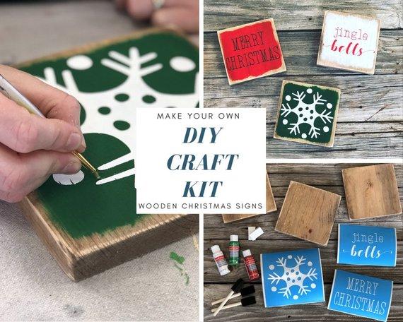 winter craft kit.jpgDIY Mini Wooden Winter Signs
