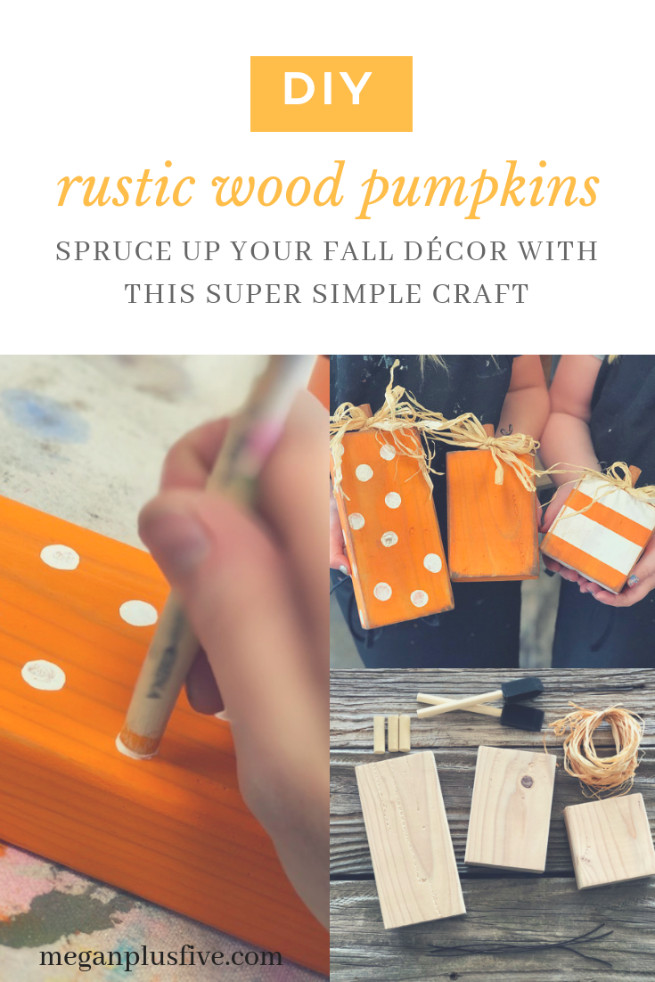 do it yourself rustic wood pumpkins, spruce up your fall décor with this super simple craft