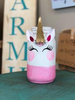 DIY Glittered Unicorn Jar