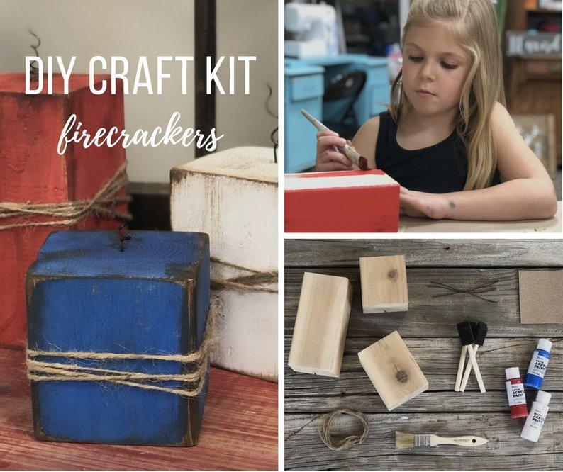 DIY 4x4 wood firecrackers craft kit