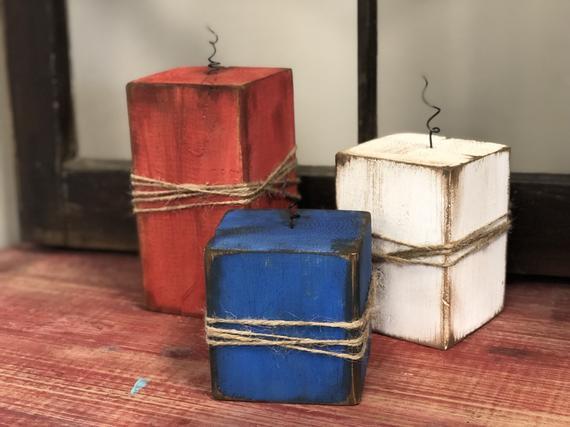 DIY 4x4 Wood Firecracker craft