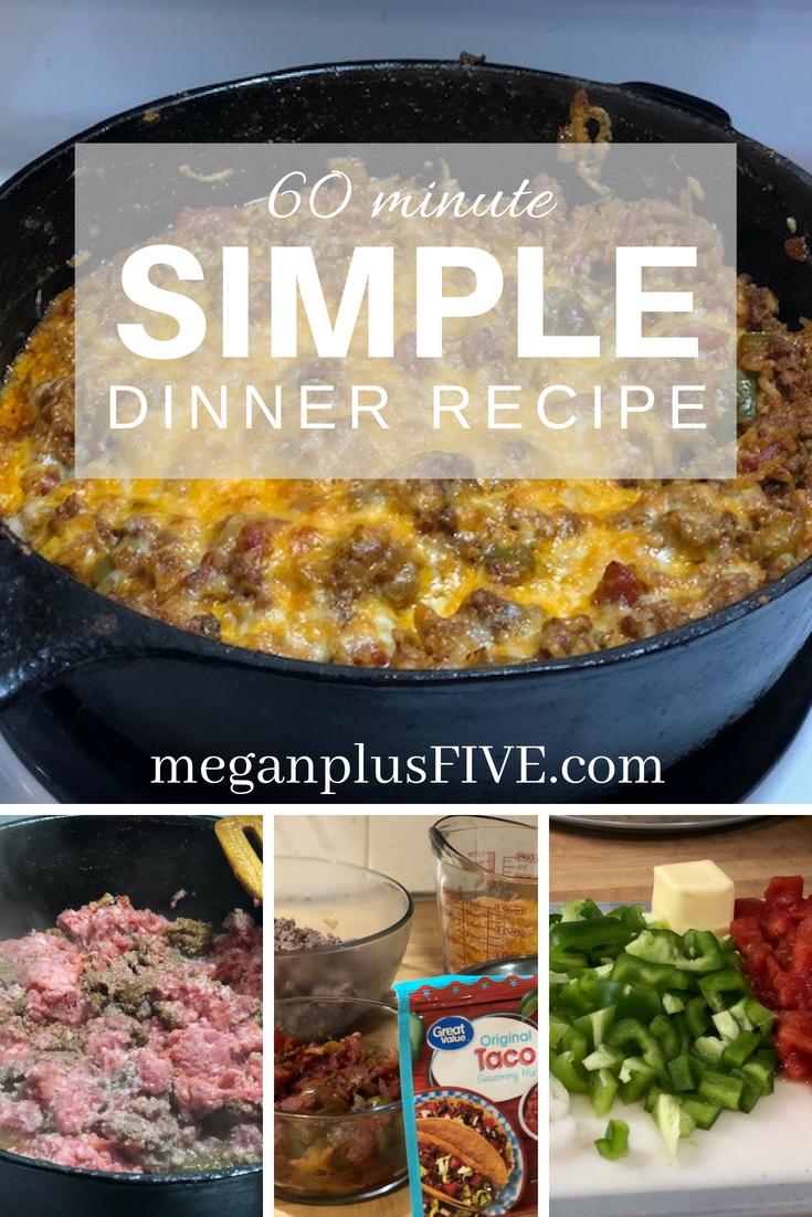 60 minute dinner recipe
