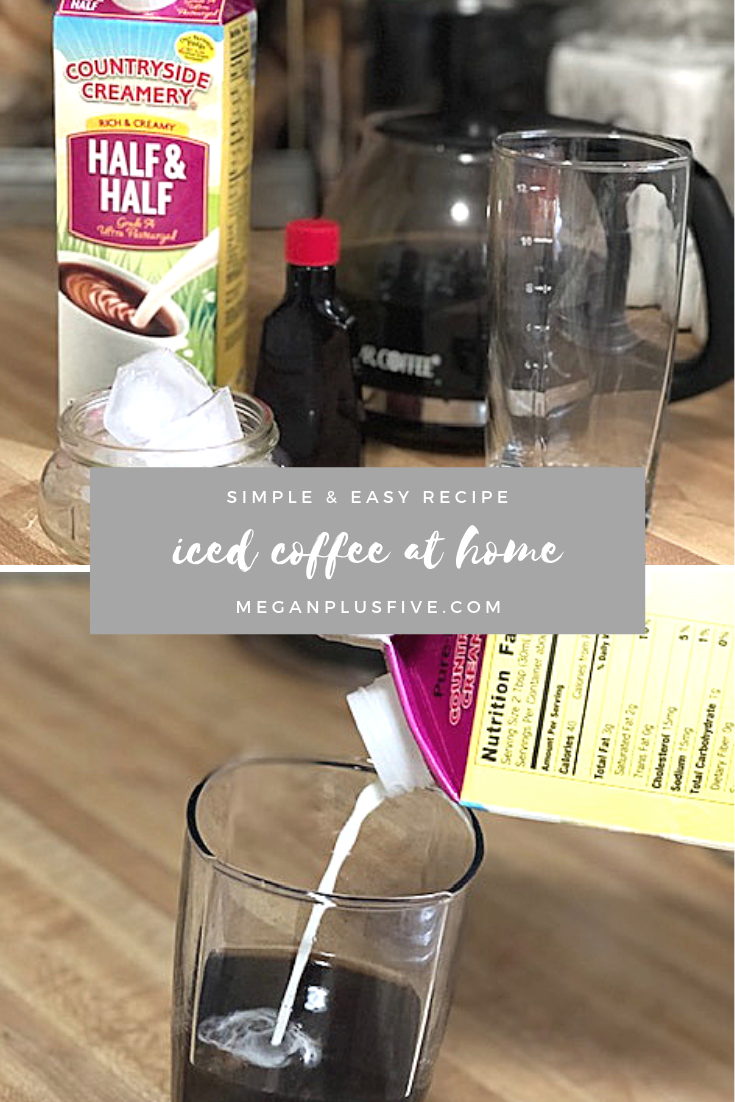 iced coffee at home, easy recipe