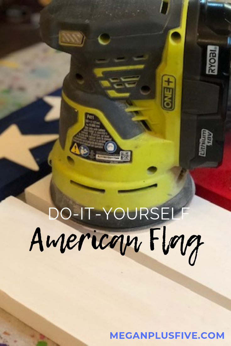 Do it yourself rustic American Flag, how to make a hanging American flag
