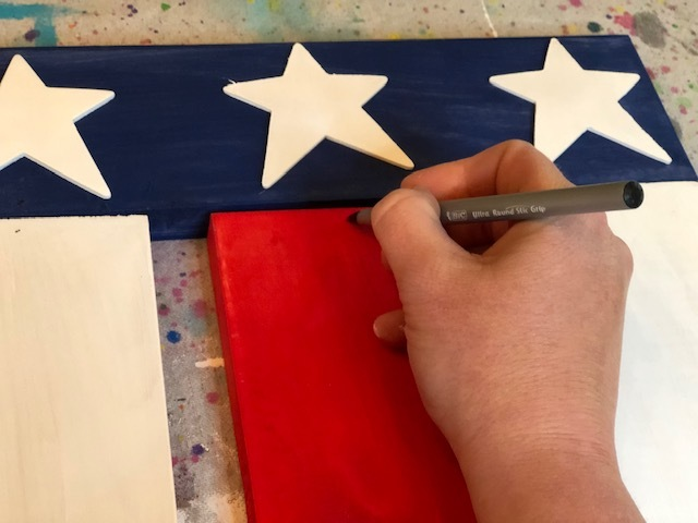 DIY hanging wood flag, how to make an American flag at home for your porch