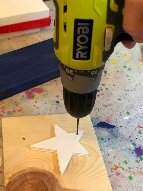 DIY hangin wood flag, how to make your own at home