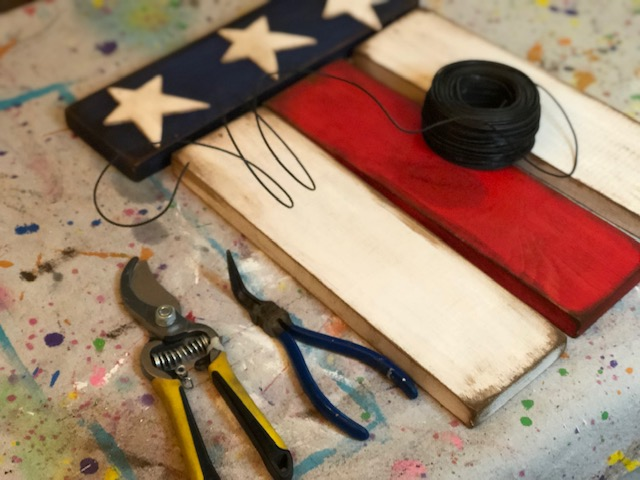 DIY hanging wood flag, how to make your own patriotic porch decor