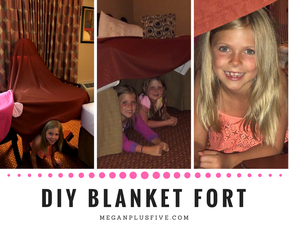 DIY BLANKET FORT when your stuck in a hotel with the kdis