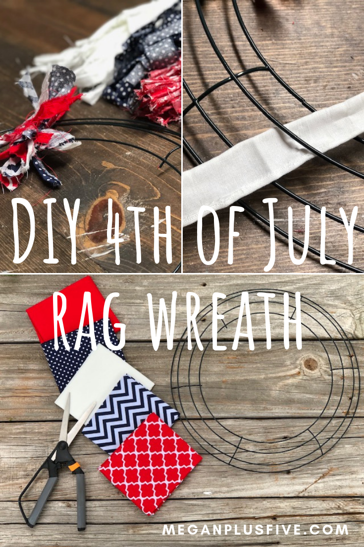 DIY 4th of Julyl Rag Wreath, easy how to make your own