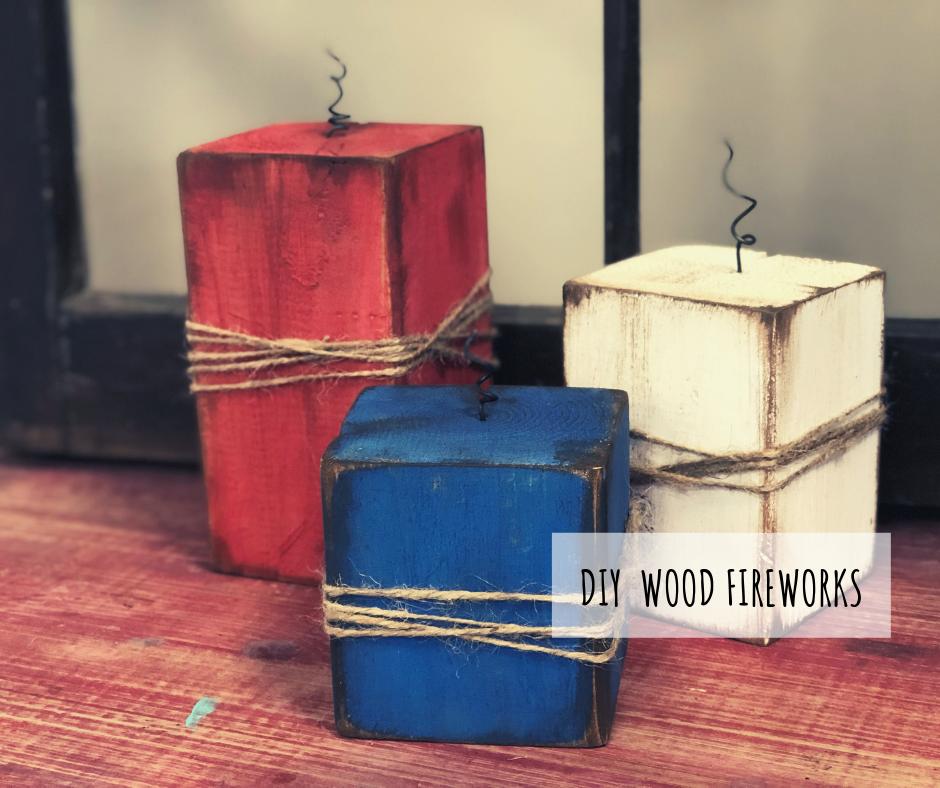 DIY wooden firecrackers