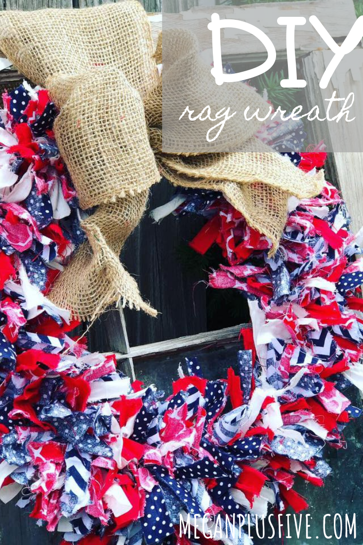 DIY Fourth of July rag wreath