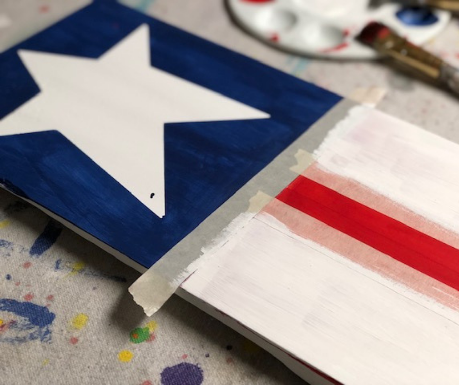 How to make an American Flag leaning porch sign