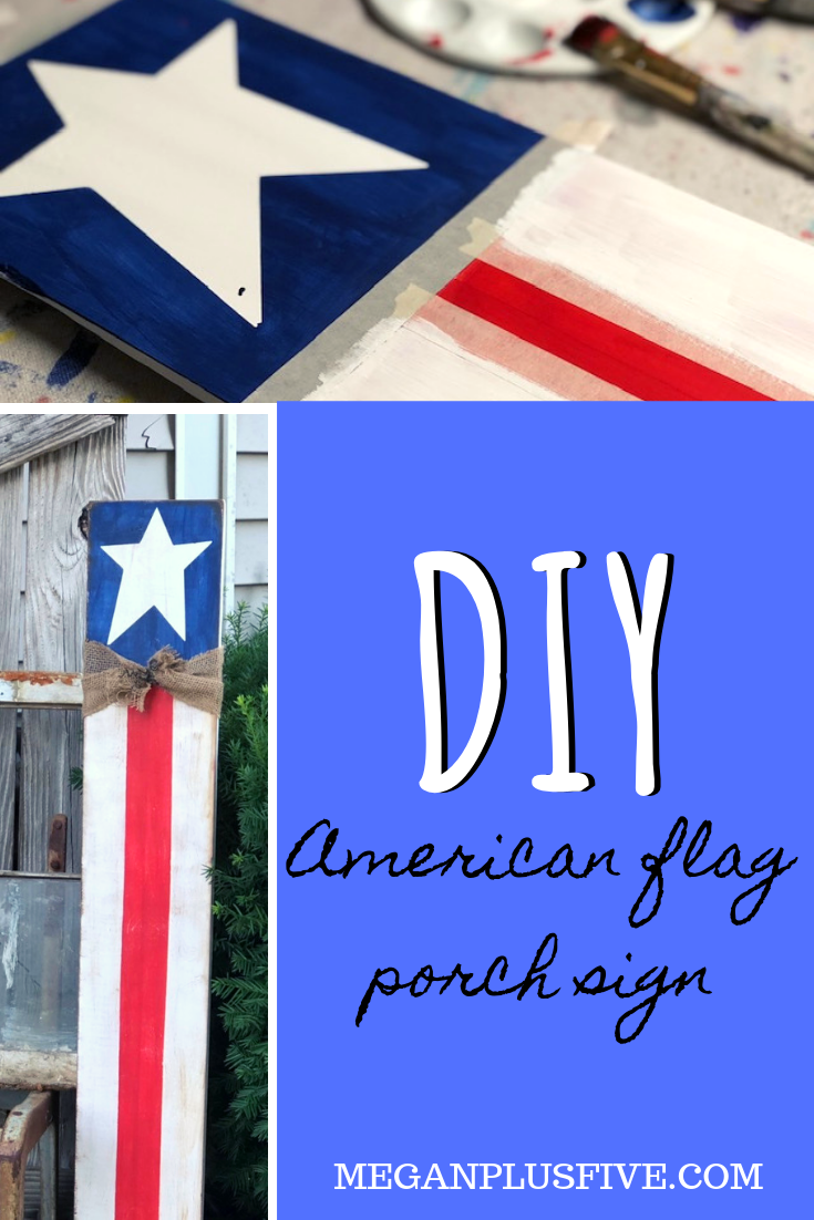 How to make an American Flag porch sign DIY tutorial