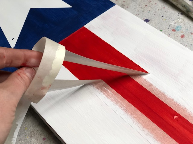 How to make an American flag leaning porch sign, DIY tutorial