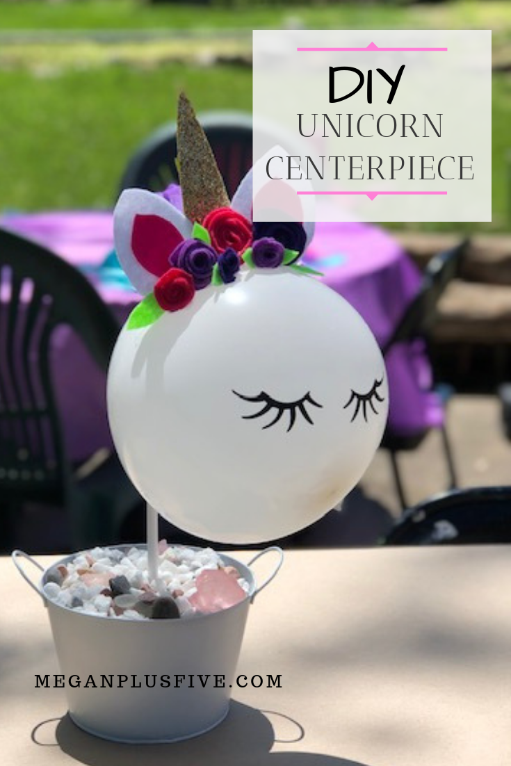 DIY Unicorn Centerpiece, how to make your own easy to follow tutorial