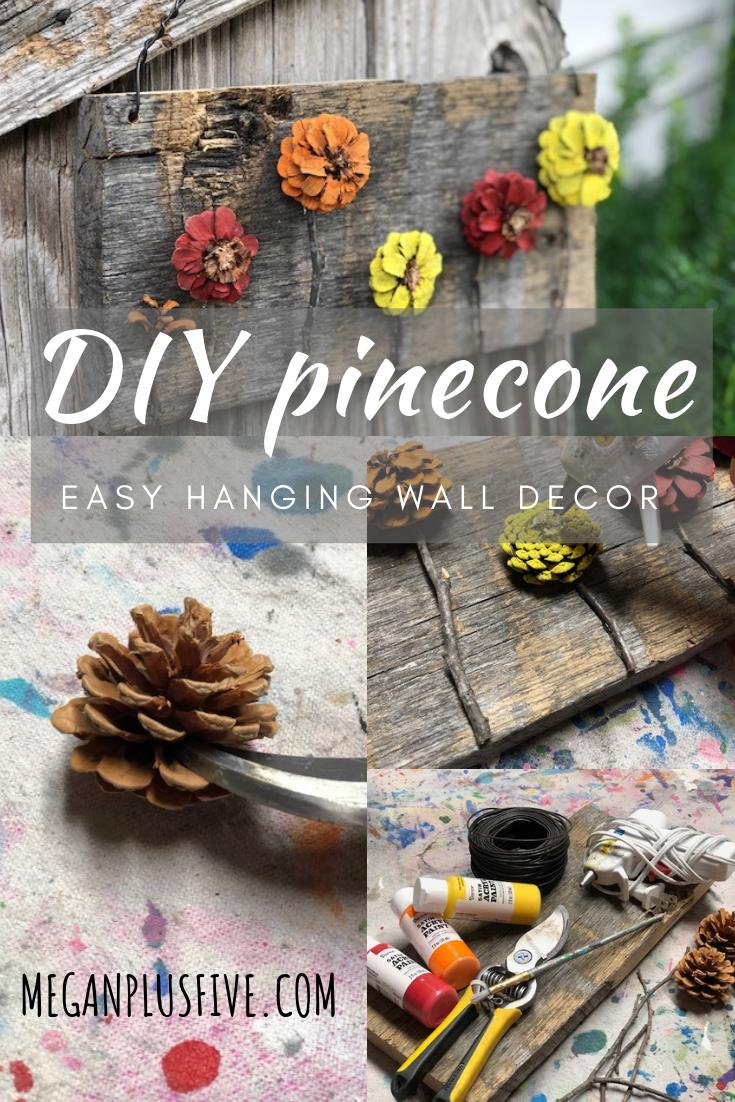 easy pine cone door hanger, flower pine cones