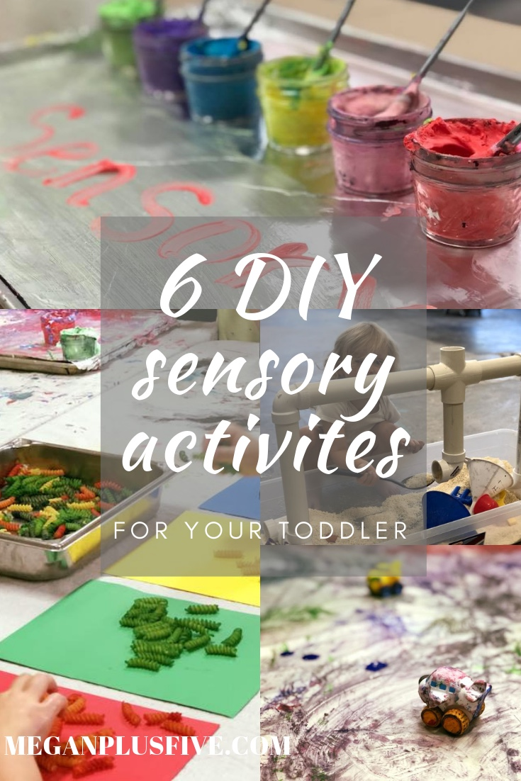DIY sensory activities your toddler will love. How to make sensory bins for you tot.