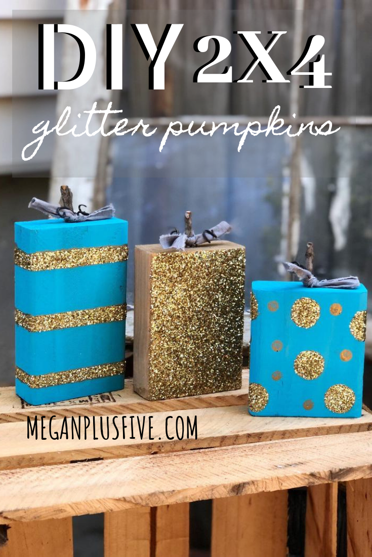 DIY glitter pumpkins. How to make your own nontraditional pumpkins for fall.